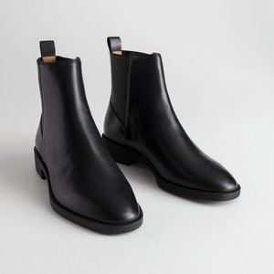 & Other Stories-Black Leather Chelsea Boots